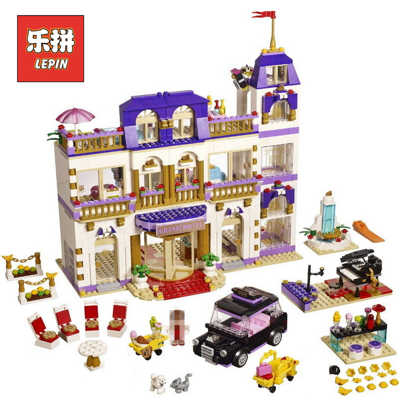 Lepin 01045 Friends Girl Series the Heartlake Grand Hotel DIY Set Model Building Kits Blocks Bricks Children Toy Gift lepin Girl lepin 01045 1676pcs girls series heartlake grand hotel set children eucational building blocks bricks toys model gift 41101