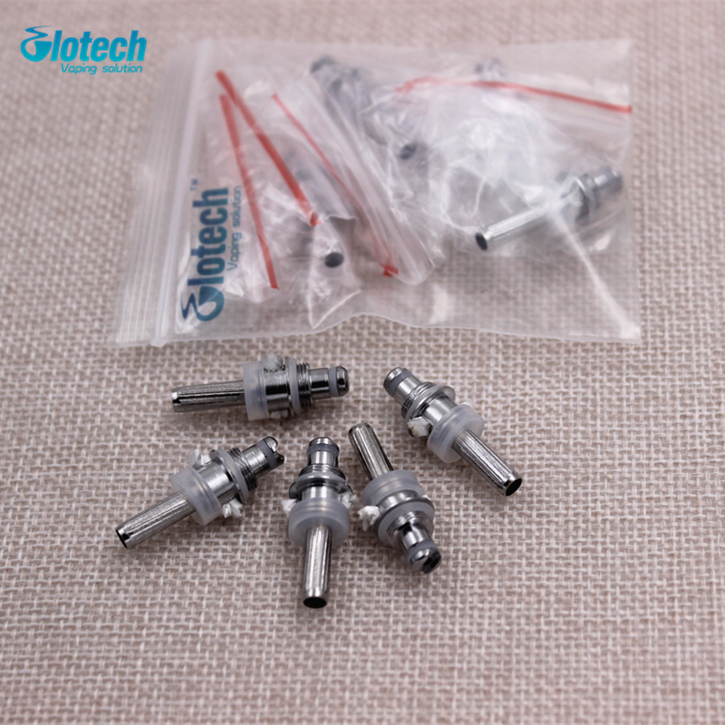 Glotech 5Pcs/lot Electronic Cigarette Mt3 Coils Wicks Suit MT3 H2 T3S T4 Replaceable Atomizer Coil EVOD Kits Vaporizer Core