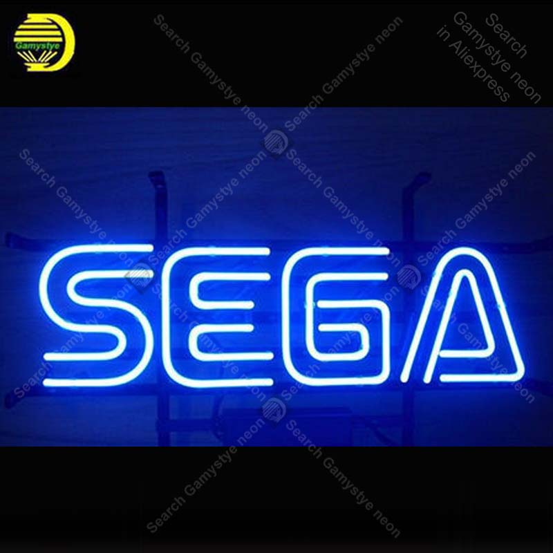 Neon Sign for Sega Game Room Beer Pub Bar Handcrafted Neon Sign Advertising Sign Man Cave Neon Bar Sign Art lamps 17x12 inch мышь x game xm 810ogb neon blue
