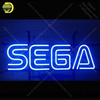 Neon Sign for Sega Game Room Beer Pub Bar Handcrafted Neon Sign Advertising Sign Man Cave Neon Bar Sign Art lamps 17x12 inch