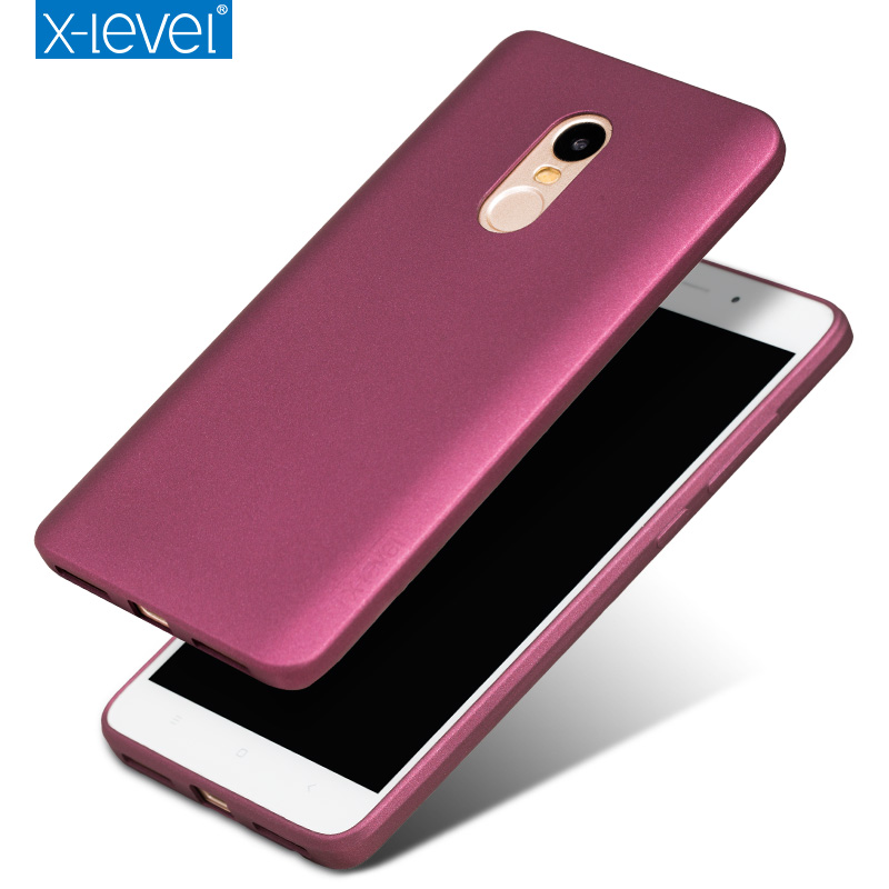 X-Level Guardian Series Soft Matte TPU Case for Xiaomi Redmi Note 4 Pro Scrub Back Cover for Xiaomi Red mi Note4 Silicone Case