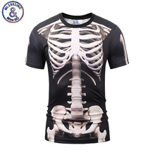 Mr.1991INC Brand Clothing Fuuny 3D Print T Shirt Summer Fashion Men's Tee Shirt Printed Skull Frame Short Sleeve Shirts Tops 3XL