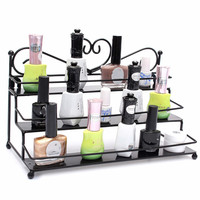 New Metal Nail Polish Shelf Makeup Wall Rack Cosmetic Varnish Display Stand Holder Heart Design Women Organizer Case