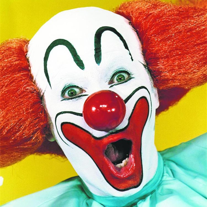 New Clown Bozo Mask Halloween Supplies Dance Party Clowns Clowning Buffoon Bozos Masks 2017 shortage in Party Masks from Home Garden