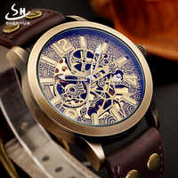 Automatic Mechanical Watch Men Top Luxury Skeleton Wristwatches 2019 New Arrival Retro Hollow Auto Self-Wind Brand Watches Man
