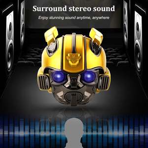 Image 4 - Bumblebee Helm Bluetooth Speaker Fm Radio Usb Mp3 TF Smart Subwoofer Blue Tooth 5.0 Draagbare Mini Draadloze Stereo Luidsprekers