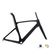 Chinese Carbon Road Bike Bicycle Frame Super Light Durable 700C 520 540 560mm Di2 Mechanical Glossy