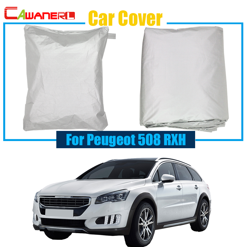 Cawanerl Car Cover Rain Sun Snow Preventing Protector UV Anti Cover Dustproof For Peugeot 508 RXH