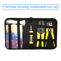 Wire Cable Tube Crimping Tools Terminal Crimping Tool Set with Tool kit CLH@8