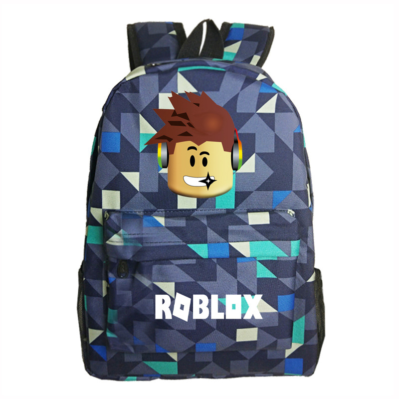 Roblox Game Boy School Bag  Backpack Student Book Bag Notebook Daily Backpack Mochila Boys Girls Gift #2