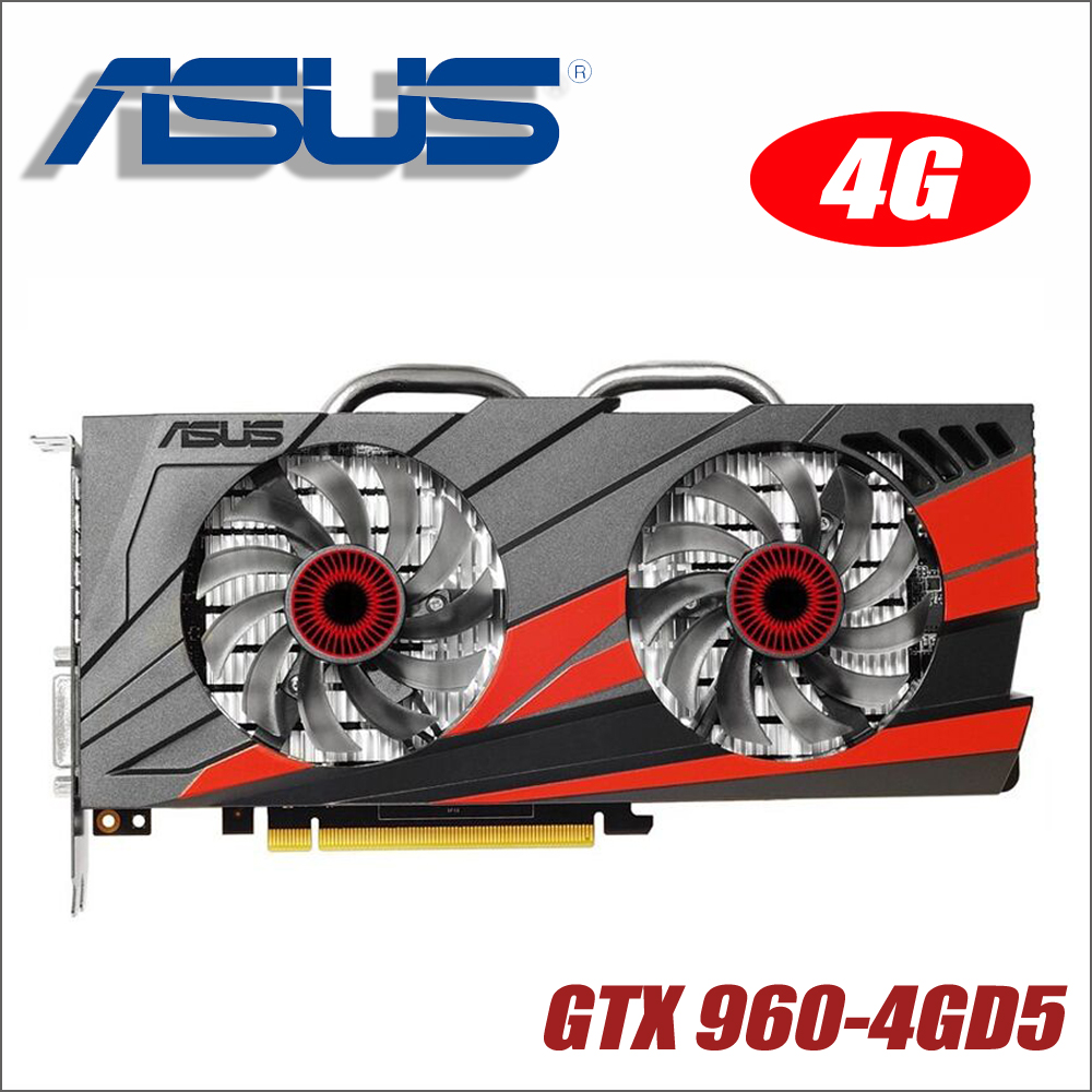 Original ASUS GTX960-DC2OC-4GD5 Video Card GTX 960 4GB 128Bit GDDR5 Graphics Cards for nVIDIA VGA Geforce Hdmi Dvi gam GTX960 4g(China)