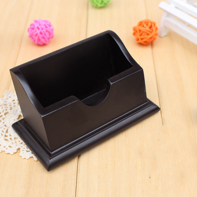 1 Pcs Waterproof Bank Credit Card Holder Wooden Business ID Name Organizer ID Card Case Storage Box Case For Desk Desktop