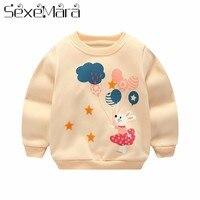 Autumn Winter baby boy girl sweatshirts long sleeve warm T shirt Children's casual cartoon thick tops outerwear clothes