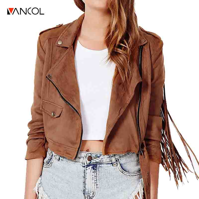 Online Get Cheap Ladies Brown Suede Jacket -Aliexpress.com ...