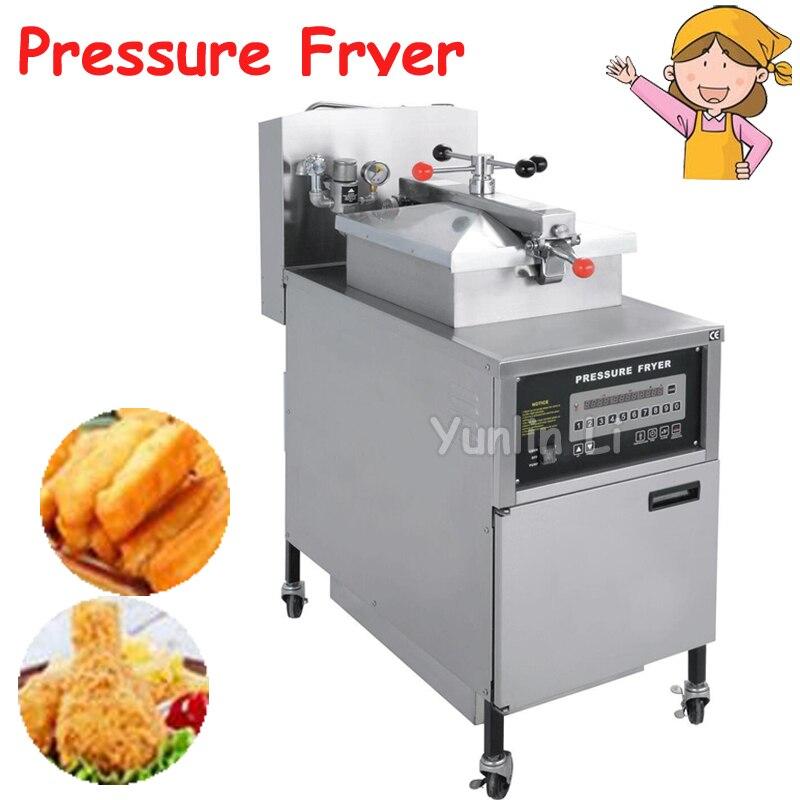 24l газовая плита цифровой KFC курица масла Давление Фрайер с насосом масла и PC Панель pfg 600