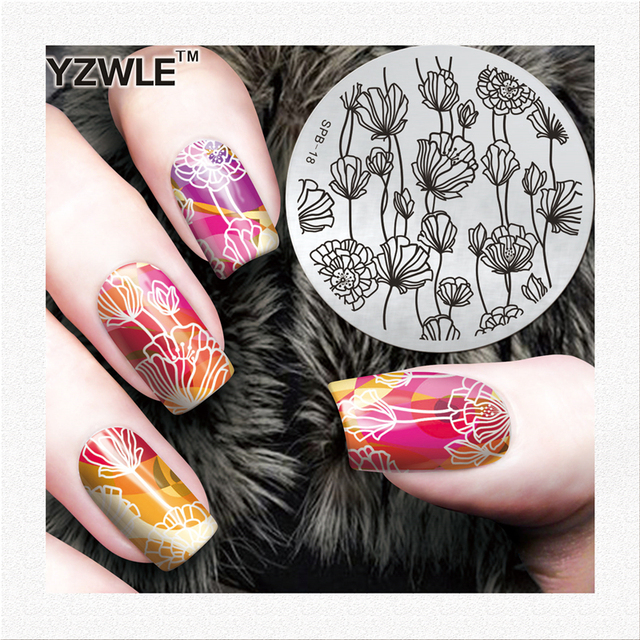 Charming Spring Nail Art Stamp Template Image Plate Nail Stamping