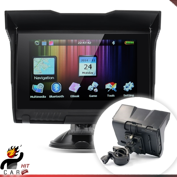 5 Inch Touch Screen Car Motorcycle Bike GPSs