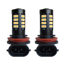2 шт. супер яркий Автомобильный светодиодный H8 H11 автомобиль передняя противотуманная Лампа 6000 K 22 Вт Авто Габаритные огни лампы белого и желтого цвета красный 12 V