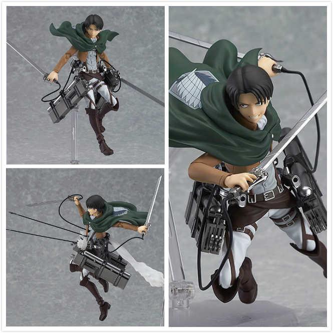 אנימה התקפה על טיטאן ערן Mikasa אקרמן לוי/Rivaille Figma PVC פעולה איור דגם צעצוע