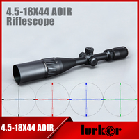 HLURKER Tactical 4 5 18X44 AOIR Optics Riflescope Red Green Blue Color Reticle Illumination Rifle Scope