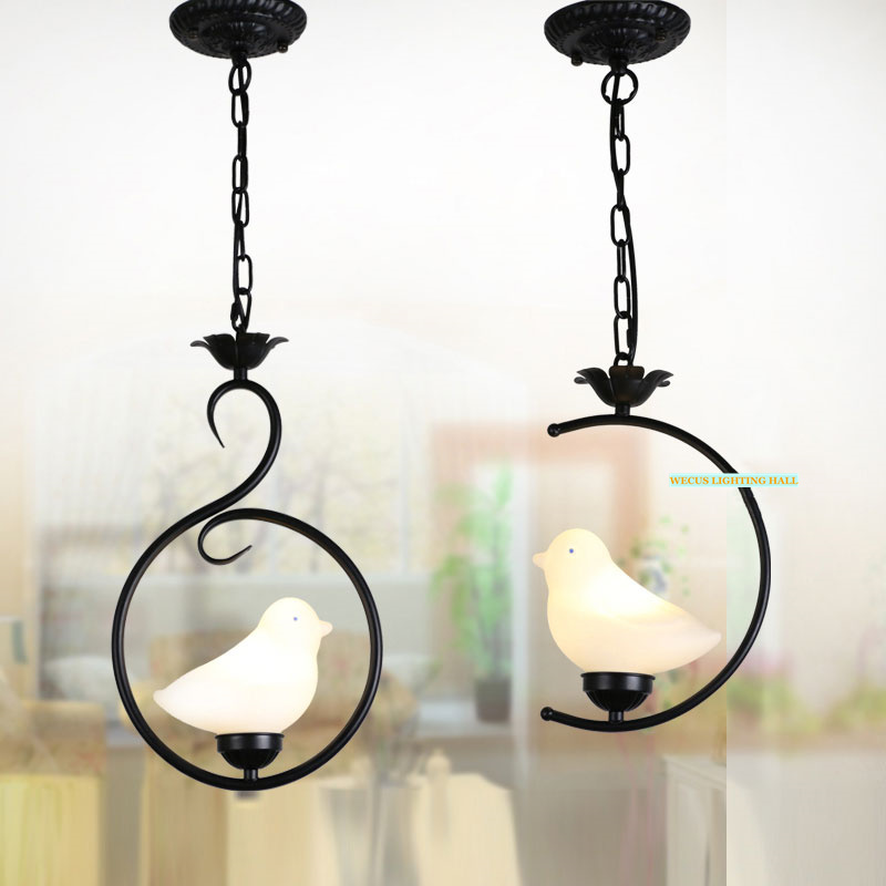 Balcony corridor bedroom study porch chandelier,Mediterranean Style restaurant pastoral retro vintage bird cage pendant lamp vemma acrylic minimalist modern led ceiling lamps kitchen bathroom bedroom balcony corridor lamp lighting study