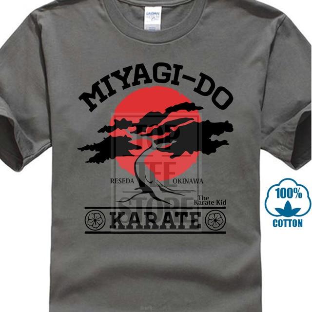 Fashion New Summer Sleeve Tee Shirts Homme T Shirt Miyagi Do Bonsai