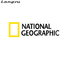 Langru Car Stickers National Geographic Channel Creative Vinyls Decals For Rear Windshield Auto Tuning Styling Jdm(China)