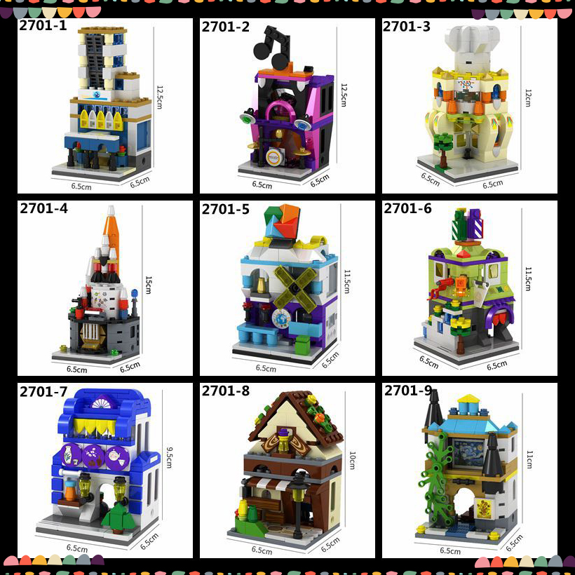 Mini City Street Travel Agency Barber Lumber Painting Shop Simulation Set  3D Model Blocks Building Toy Fit Legoings For Kids - aliexpress com