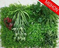 40*60 cm Quadrado Paisagem Turf Gramado de Grama Artificial de Plástico Plantas Verdes Folha De Eucalipto Casa casamento hotel Decoração Da Parede atacado