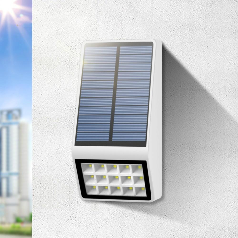 Solar Lampu Taman Solar 15 Lampu Led Sensor Radar Dinding Dinding Pagar Tenaga Surya Dekorasi Natal Solarlight Lampu Surya Aliexpress