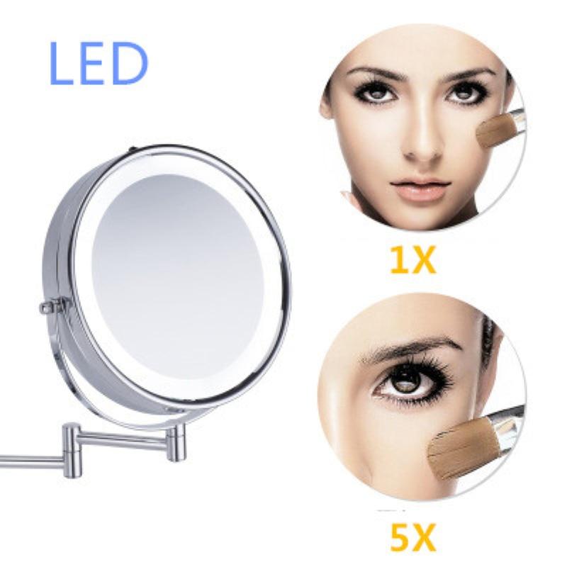 SpringQuan 8.5 inch metalen cosmetische spiegel 2-Face batterij - Huidverzorgingstools - Foto 5