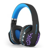 Wireless Headset,Gaming Bluetooth Headset Q2, Stereo, Foldable, Built in Microphone, Cool LED for PS4, Xbox, iPads, PC, TV