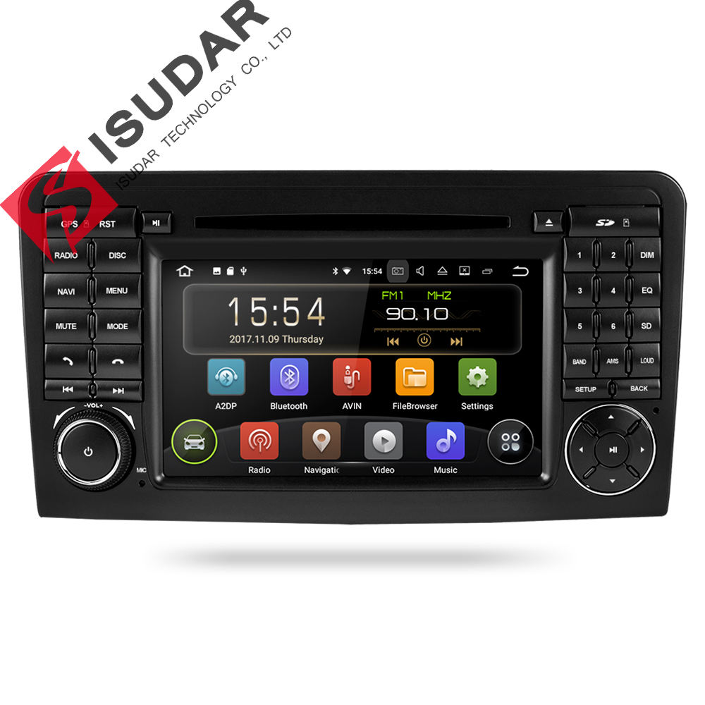 Isudar Car Multimedia Player GPS Due Din Android 8.1 Automotivo Per Mercedes/Benz/GL ML CLASSE W164 ML350 ML450 ML500 GL320 Radio