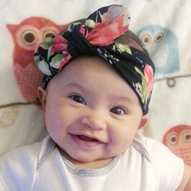 New Baby Kids Girls Children Toddler Newborn Infant Bohemia Rabbit Ears Turban Knot Headband Hair Band Accessories Bandeau Bebe 1 pcs baby toddler girls kids star turban knot rabbit headband infant newborn bow hairband headwear hair band accessories