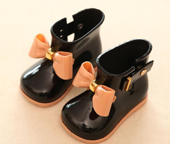 Size 21-25 childrens snow boots winter baby anti-skid plus velvet warm cotton shoes fashion wild boys and girls kids Bare boots
