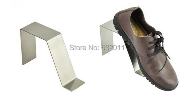 Plateado mate boutique de zapatos sandalias de hombre zapatos de exhibición mostrando soporte holder guardián zapatos titular de rack