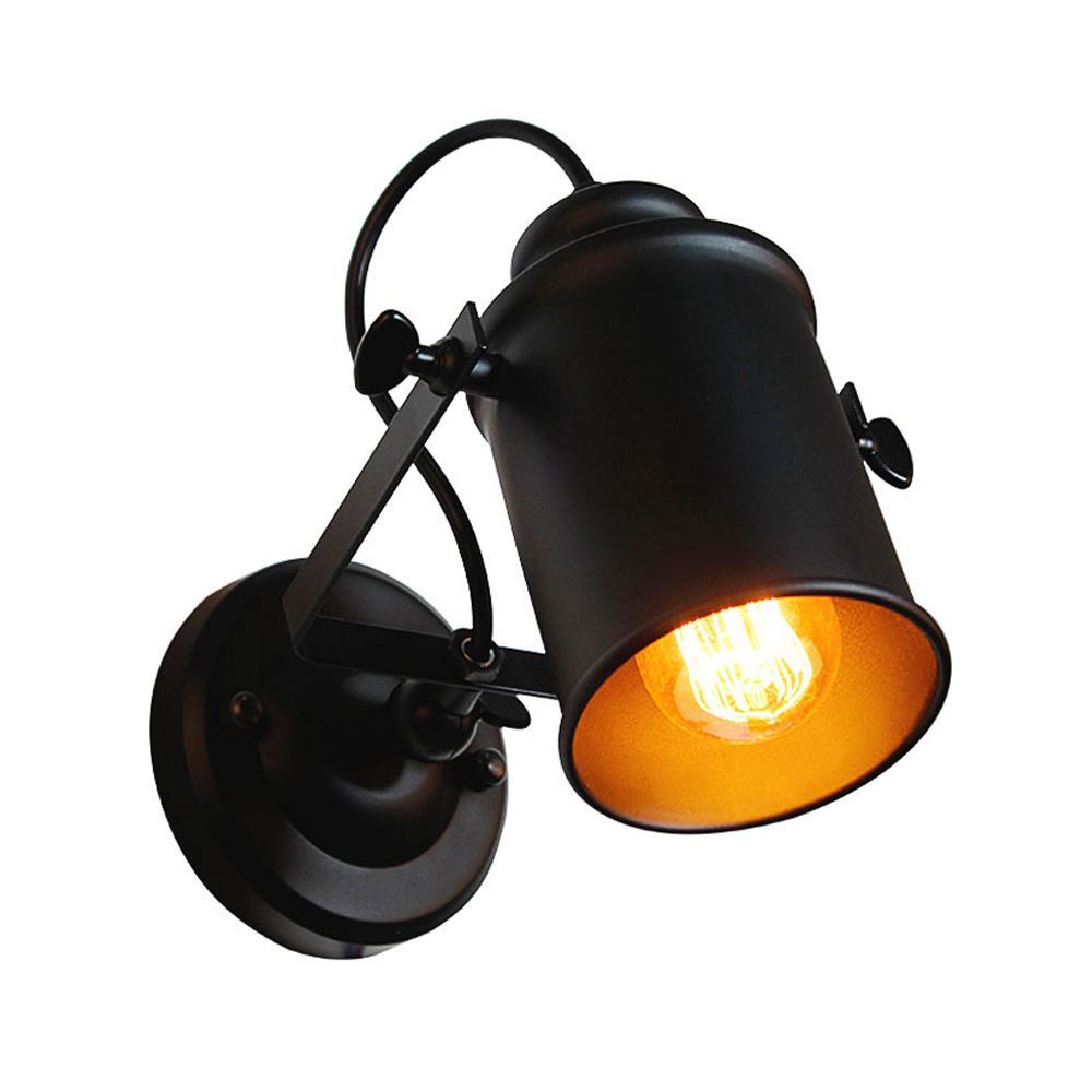 Wall Lamp American Retro Country Loft Style LED lamps Industrial Vintage Iron wall light for Bar Cafe Home Lighting