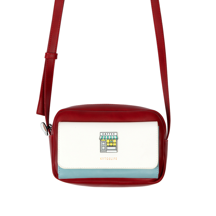 Image 3 - Kiitos Life square PU women crossbody bags with contrast colors  in ENCOUNTER series original designed in 4 styles(FUN KIK )bags  withbag designerbag style