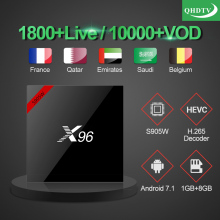 X96W Smart TV Box Android 7.1 Amlogic S905W Quad Core H.265 4K 2.4GHz WiFi Media Player QHDTV Code Europe French Arabic IPTV Box недорого