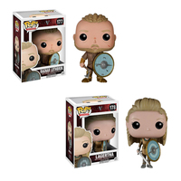 New High Quality Funko POP Vikings #178 LAGERTHA #177 RAGNAR LOTHBROK Handmade Action Figure Toy Collection Decoration Doll Gift