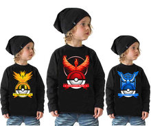 2018 Spring summer children new children's cartoon Hoodie pokemon go Cotton long sleeved sweater for cute pikachu Sweatshirt(China)