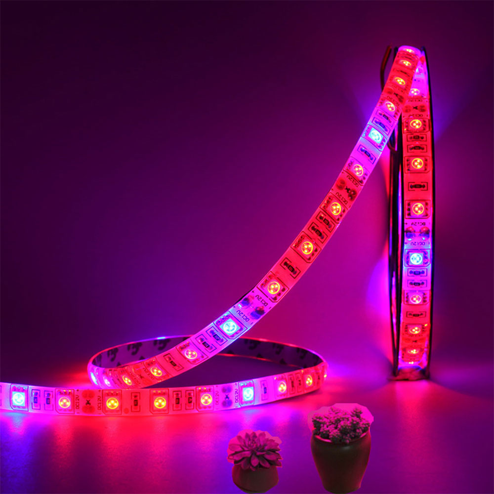 LED Plant Grow Light Bar Red Blue 4:1 Flexible Lamp Strip IP65 Waterproof 5m 12V
