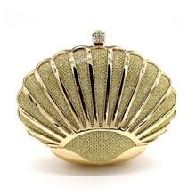 2016 Shinning Abendtasche Shell Design Tasche Geldbörse Braut-kleid-partei-handtasche Hochzeit Kupplung Frauen Abend Geldbörse Dame Party Tasche M60