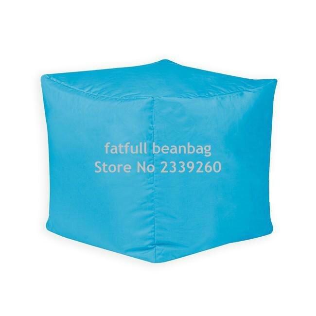/Utilisation en int/érieur et ext/érieur/ /Imperm/éable Sacs de Haricots Bean Bag Bazaar/® Bar B Cube Pouf Tabouret Orange/
