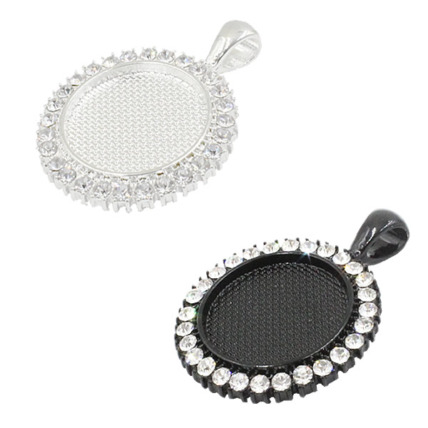 Fit 25mm Round Cabochons Rhinestones Cameo/Glass Frame Bezel Settings Tray Blank DIY Accessory Making 5pcs/lot K05175