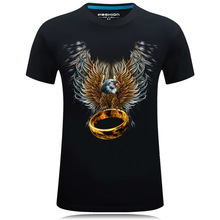 SBTZ 21-22 New Summer Men's Tshirt Slim Cotton 3D Style Eagle Ring Plus Domineering Character Classic T-shirt Men
