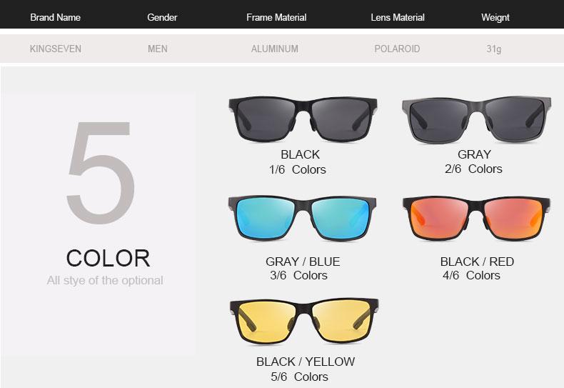 2017 New KINGSEVEN Polarized Sunglasses Men Brand Designer Male Vintage Sun Glasses Eyewear gafas oculos de sol masculino N7180 4