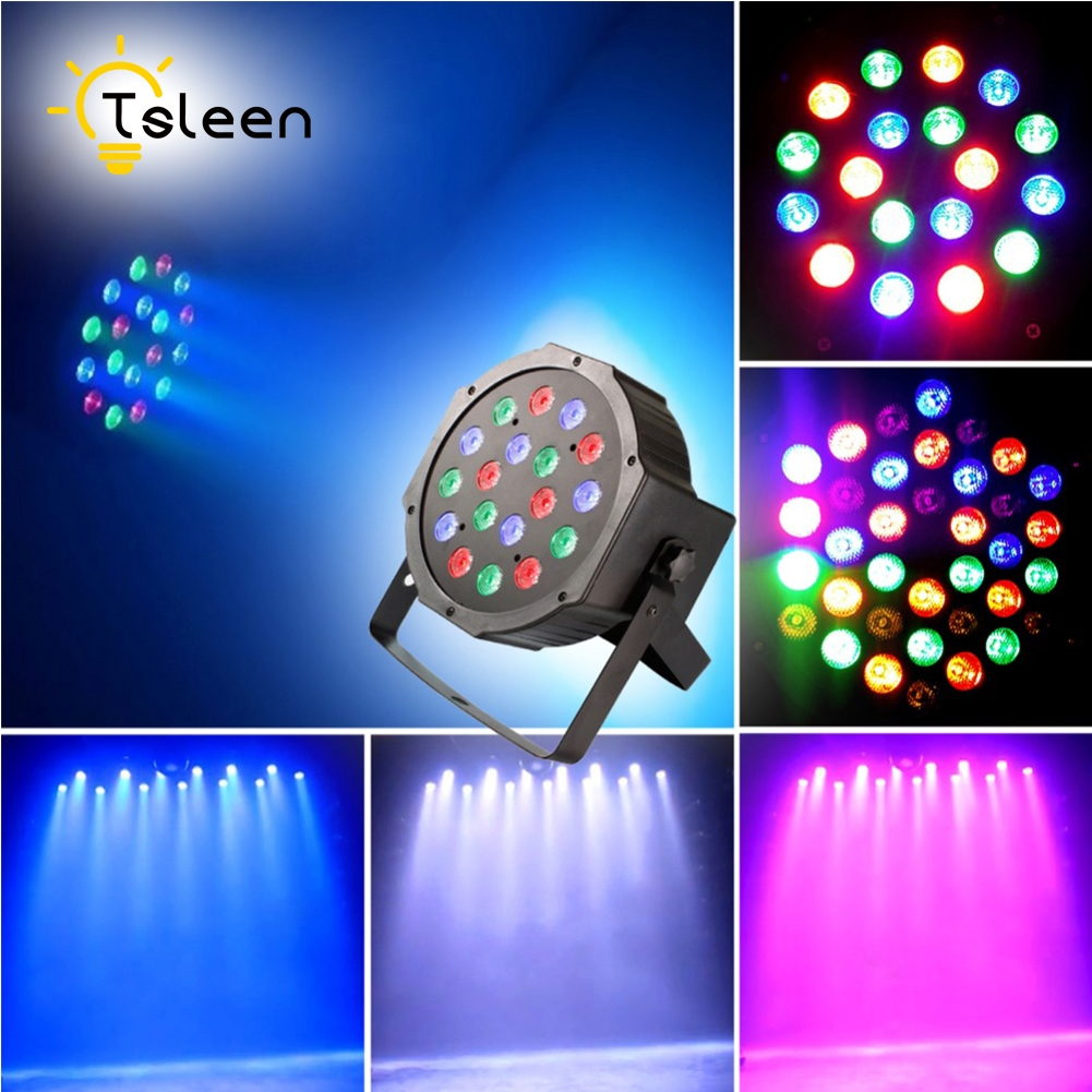 TSLEEN High Quality LED Stage Light Laser Projector Par Lamp RGB DMX512 Voice-Activated Effect Disco DJ DMX For Party KTV Club led par stage light dj disco with music activated auto run and dmx512 control mode different colors combinations of rgb rotating