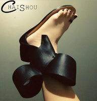 New Summer Women Flat Sandals Large Butterfly Knot Women Sandals Flowers Hollow Fashion Casual Woman Sandals