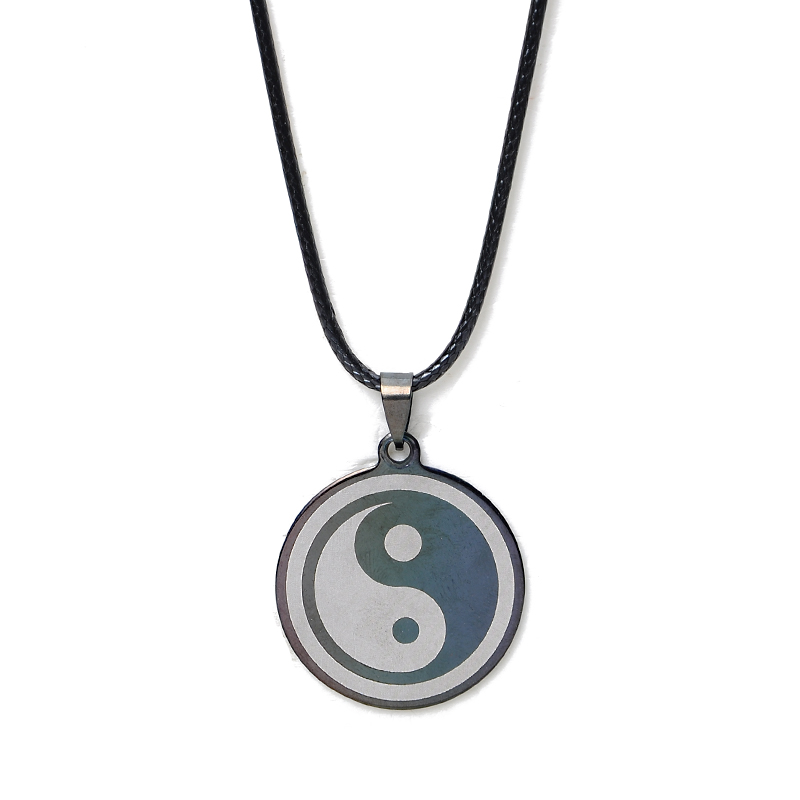 New Arrival Fashion Jewelry Stainless Steel Tai Chi Necklace <font><b>Yin</b></font> <font><b>Yang</b></font> Symbol Pendants Necklaces <font><b>Colar</b></font> Feminino image